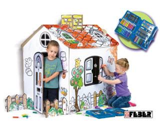 Feber - Kinderspielhaus zum Bemalen