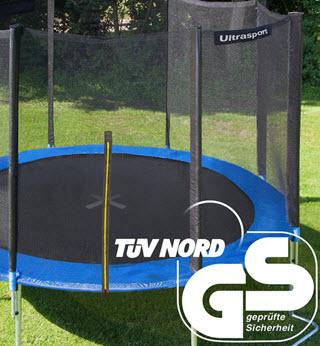 Ultrasport vom Tüv Nord GS Geprüftes Trampolin